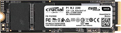 Crucial P1 - SSD de 500 GB (3D NAND, NVMe, PCIe, M.2)