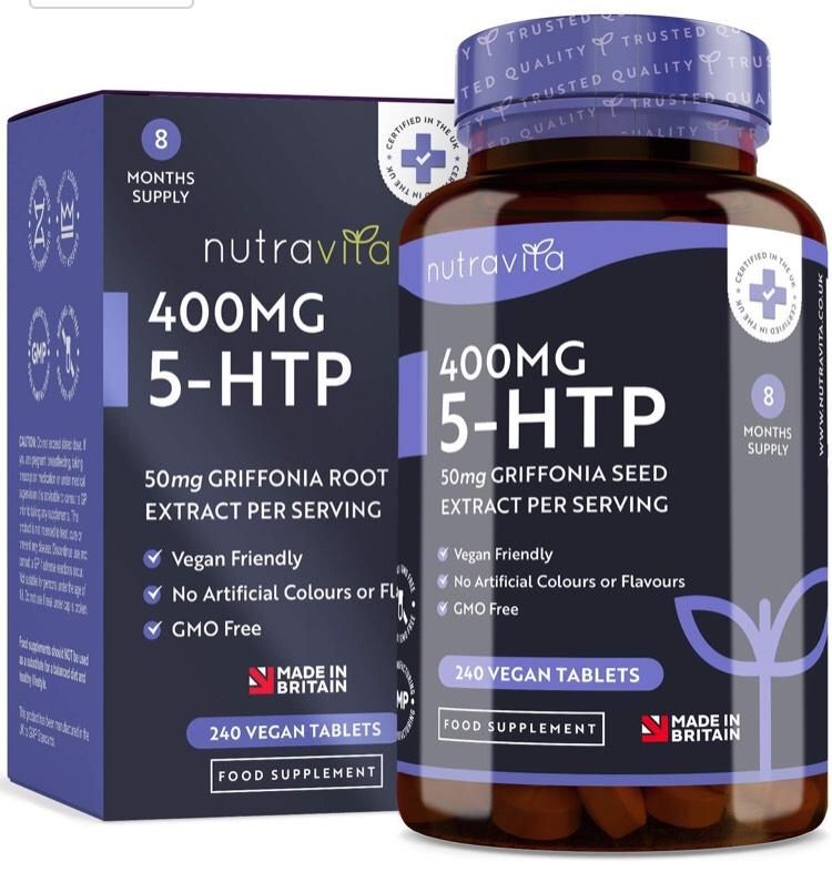 Suplemento 5-HTP 400 mg. (semilla de Griffonia) Nutravita