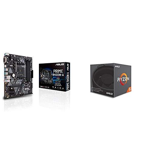 Pack placa base Asus y procesador AMD - ASUS PRIME B450M-A + RYZEN 2600