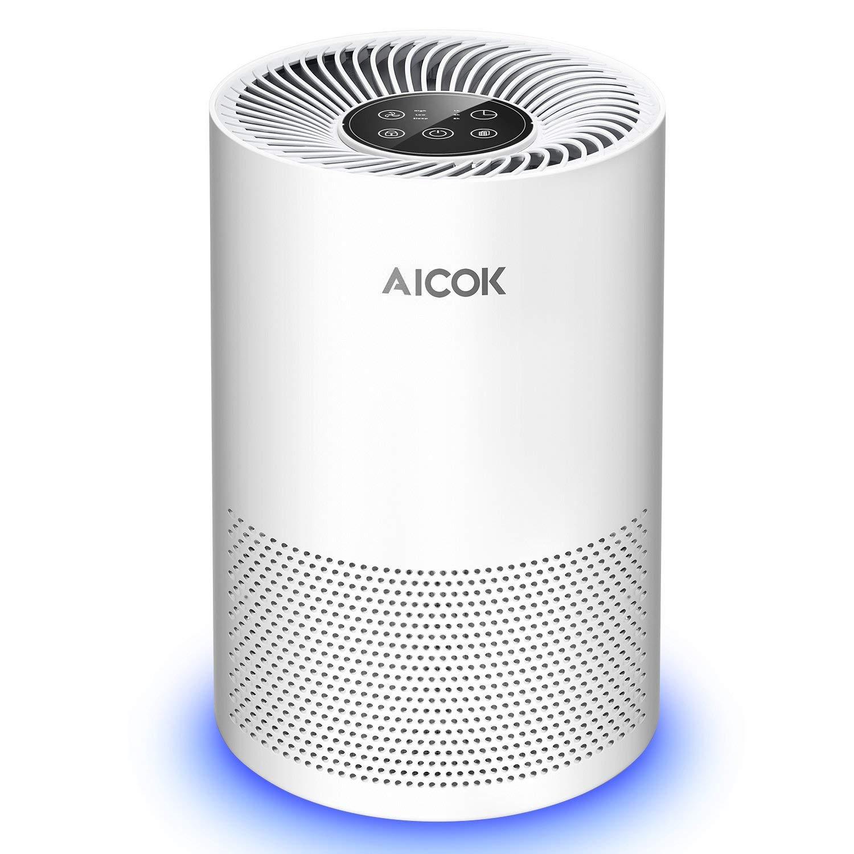 Aicok Purificador de Aire para eliminar malos olores y reducir el polvo