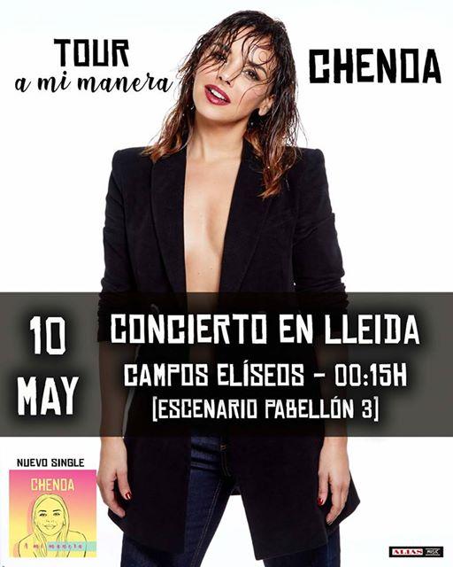 Chenoa 2 conciertos GRATUITOS Lleida y Roquetas de Mar