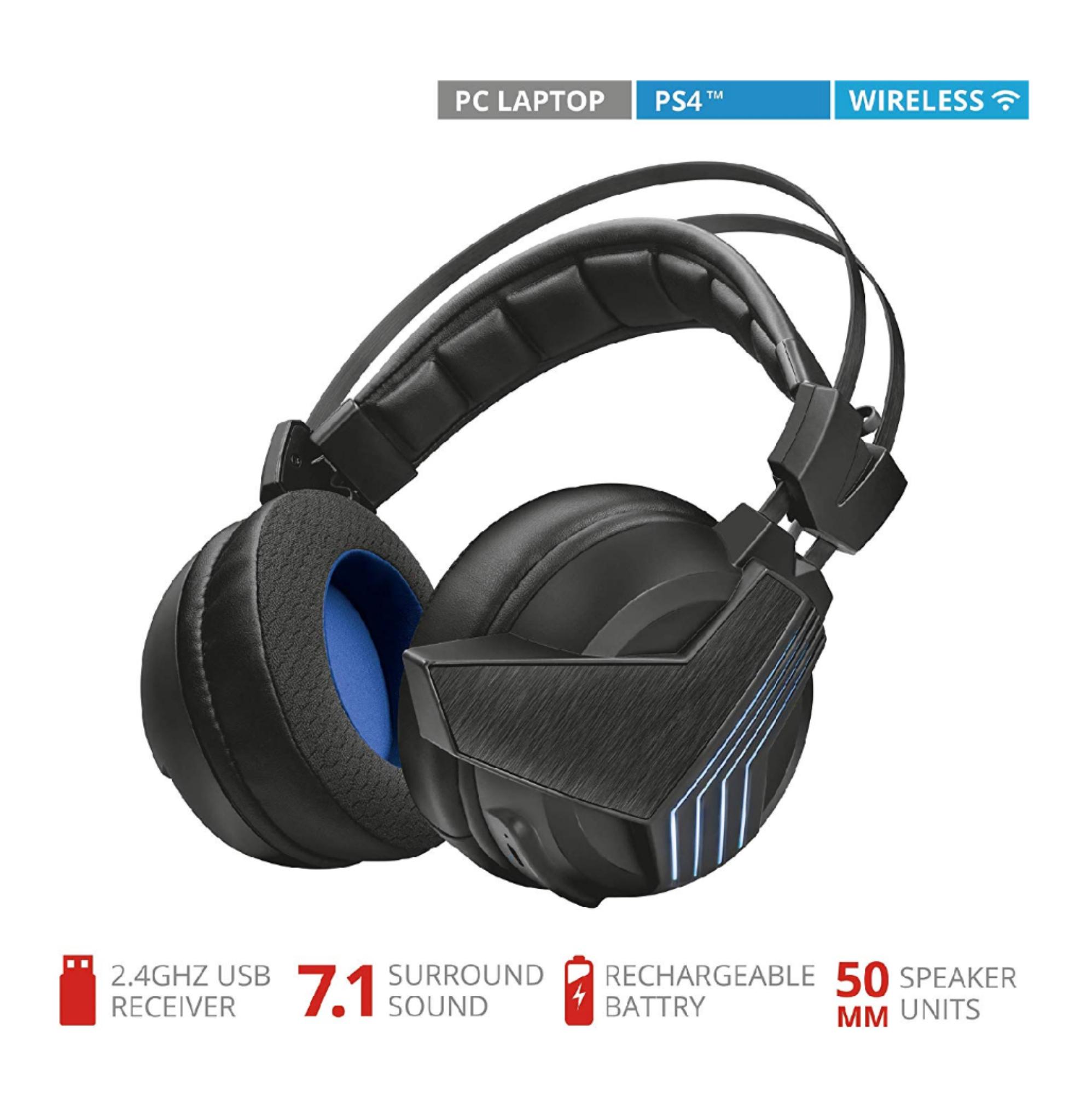 Trust Gaming GXT 393 Magna - Auriculares inalámbricos con Sonido Envolvente 7.1(REACONDICIONADO).