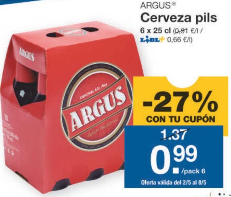 Pack Cerveza Argus botellín 6x25 cl. con Lidl+