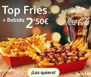 Top fries +bebida pequeña 2,50€