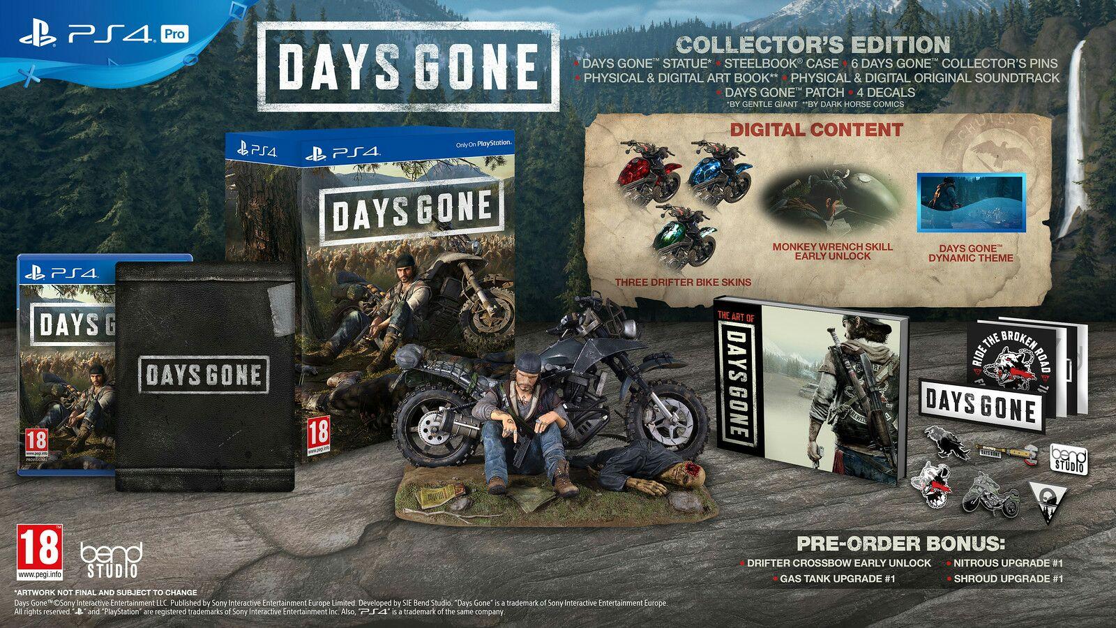 Days gone edición coleccionista ps4