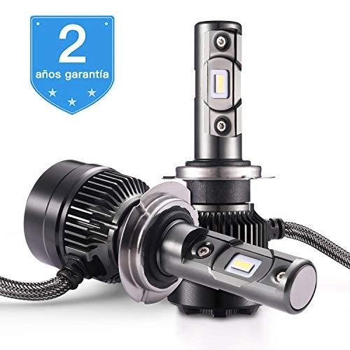 AUTLEAD Bombilla H7 LED para Coche Faros Delanteros, Luces Altas/Bajas, Luz Antiniebla