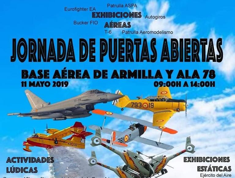 11 DE MAYO, Puertas Abiertas en la Base Aérea de Armilla-Granada
