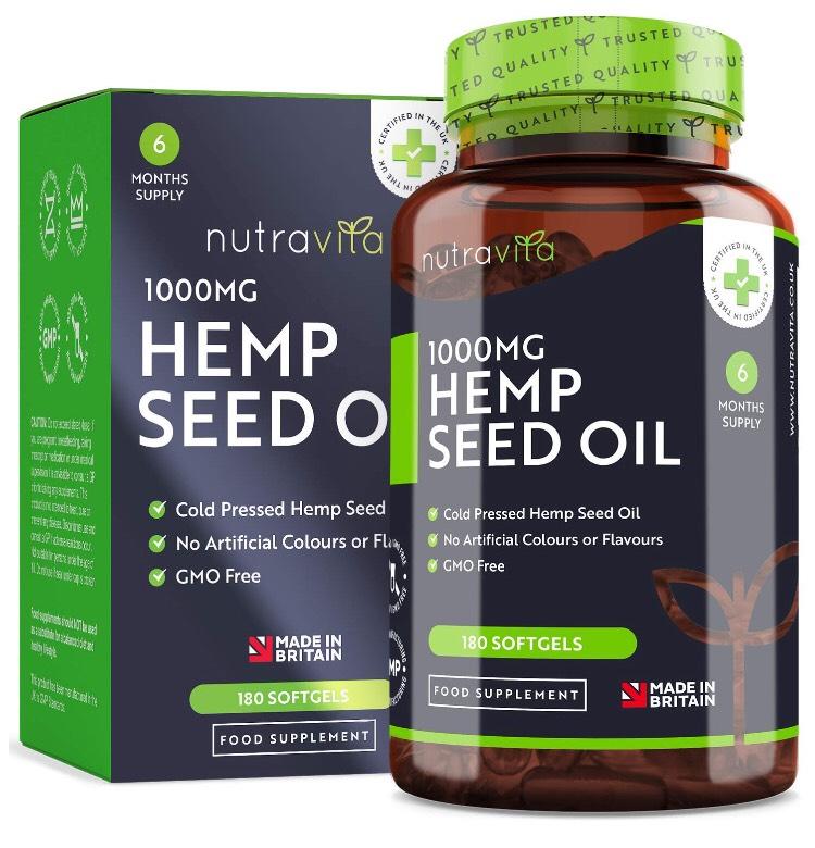 Suplemento Aceite semilla de cáñamo 1000 mg. Nutravita