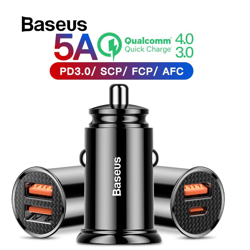 Baseus 30 W cargador de coche de carga rápida