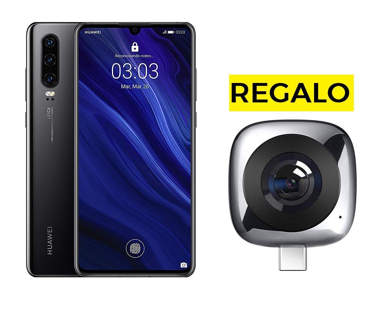 Huawei P30 Negro + Cámara EnVizion 360 a 470€