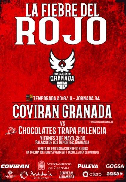 Entrada Gratis Baloncesto Granada Palencia con una prenda Roja