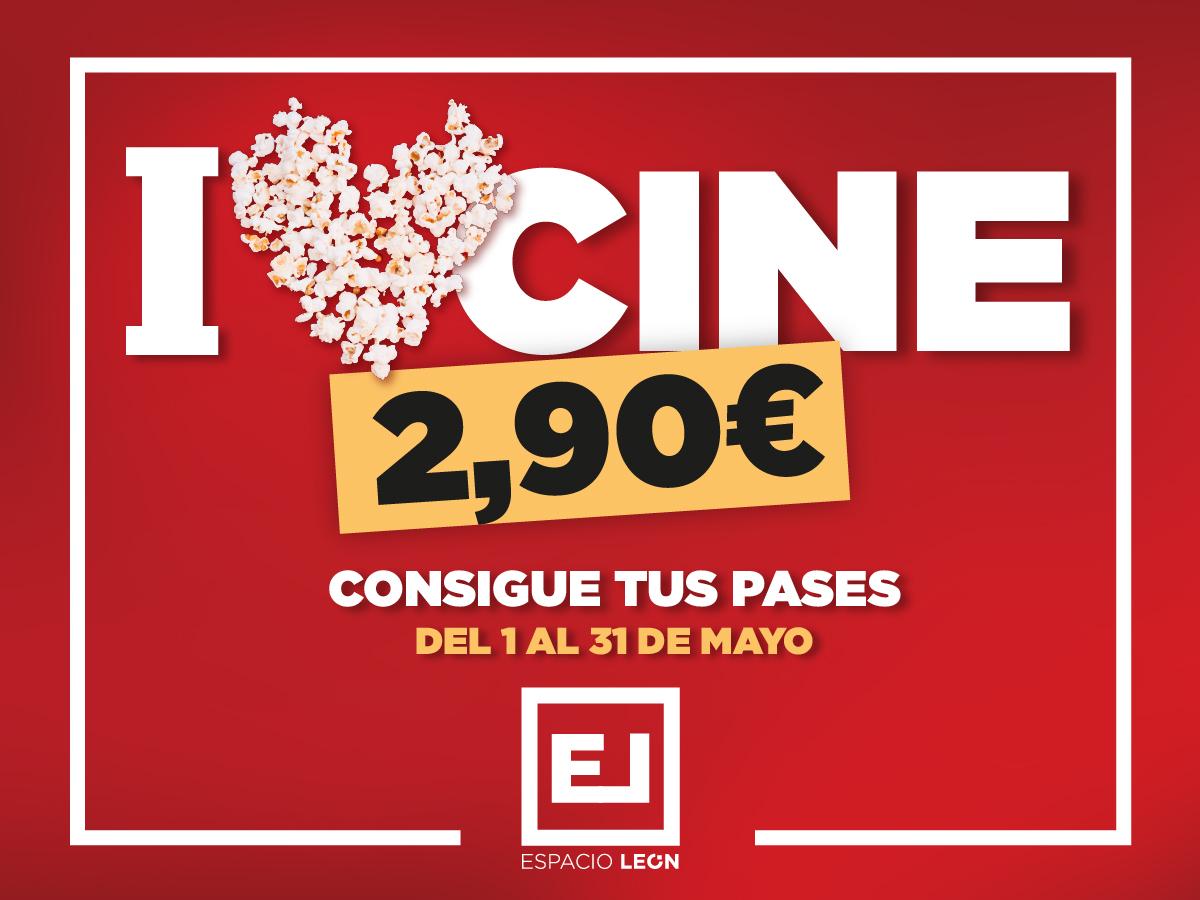 Entradas de cine a 2,90 CC Espacio León en León (Consumo mínimo de 10€)
