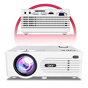 Proyector QKK [con bolsa portátil] Mini proyector 3600 Lumens