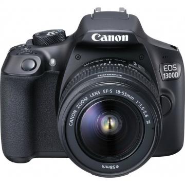 Canon EOS 1300d con Objetivo 18-55 mm III Negro