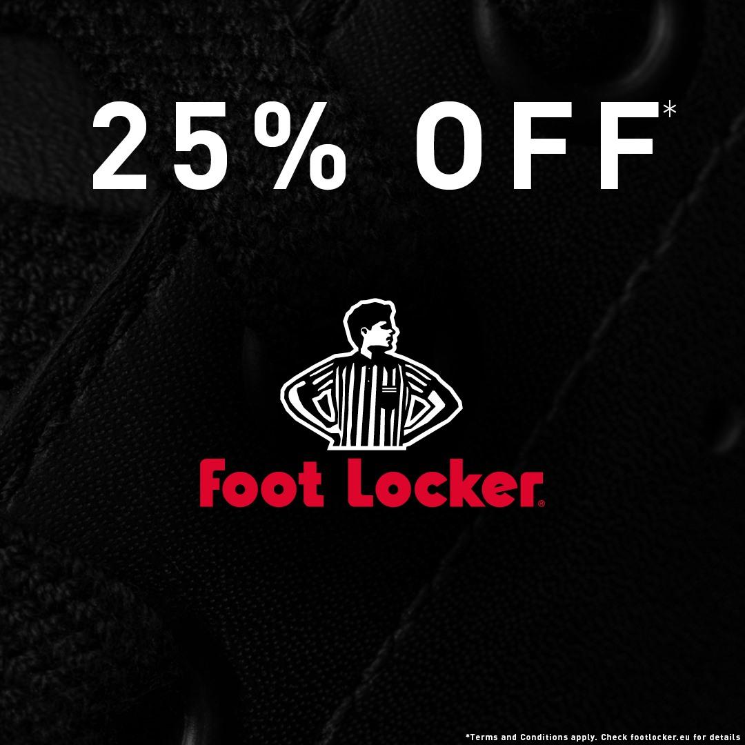25% de descuento online y en tienda física (FootLocker)