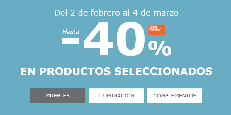 hasta 40% en seleccion de productos en IKEA