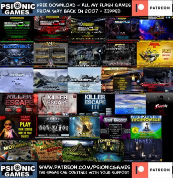 PSIONICGAMES, regala 30 juegos antiguos en flash