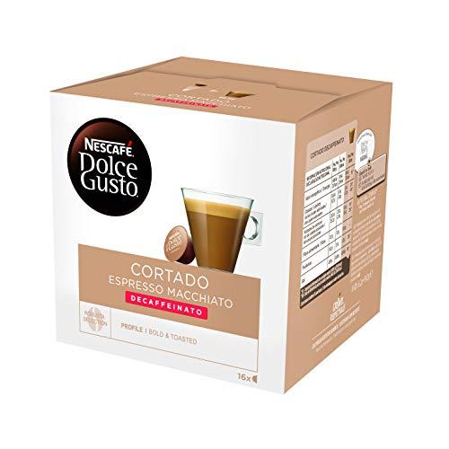 NESCAFÉ Dolce Gusto Café Cortado descafeinado, Pack de 3 x 16 Cápsulas