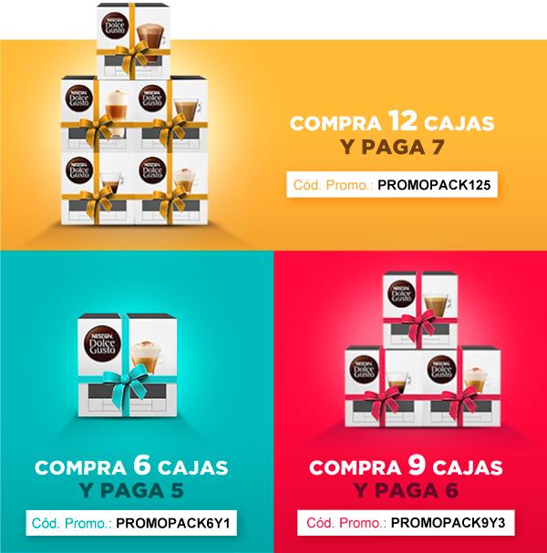 Promociones en DolceGusto Compra 12 y PAGA 7