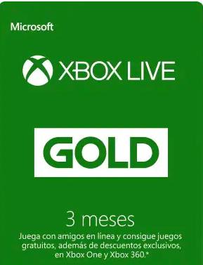 3 Meses Xbox Live Gold  (3m=11€, 6m=22€)