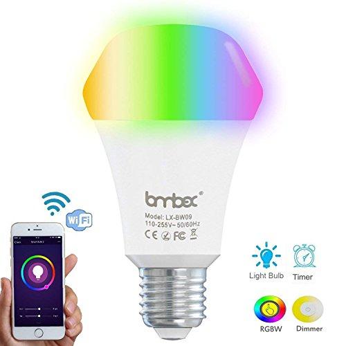 Bombilla inteligente 9W Wifi con Color regulable