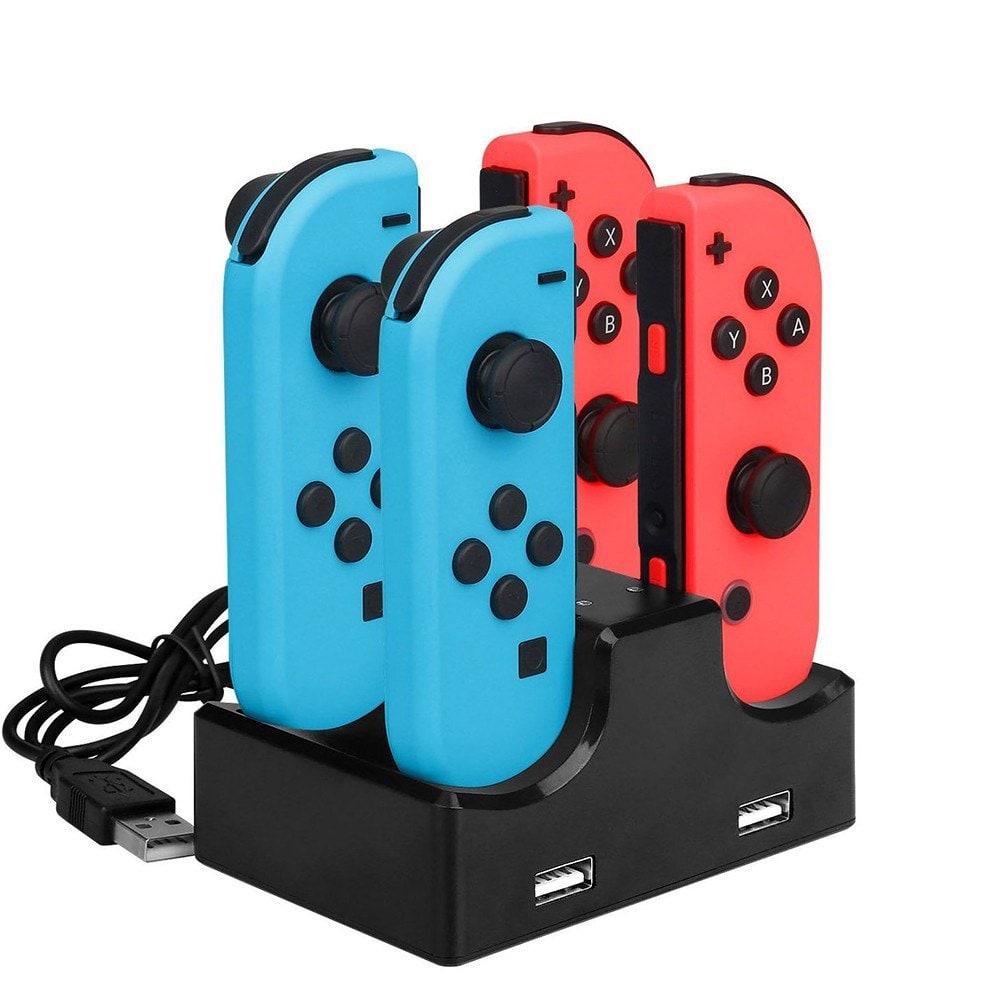Nintendo Switch: Base de carga 4 in 1 con 2 USB Hub para Joy-Con