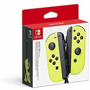 Set De Dos Mandos Joy-Con Izquierda Y Derecha, Color Amarillo Neón (Nintendo Switch)