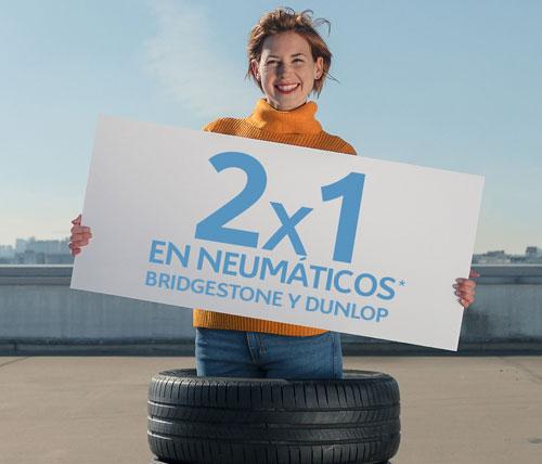 2x1 neumáticos Bridgestone o Dunlop Talleres Citroen