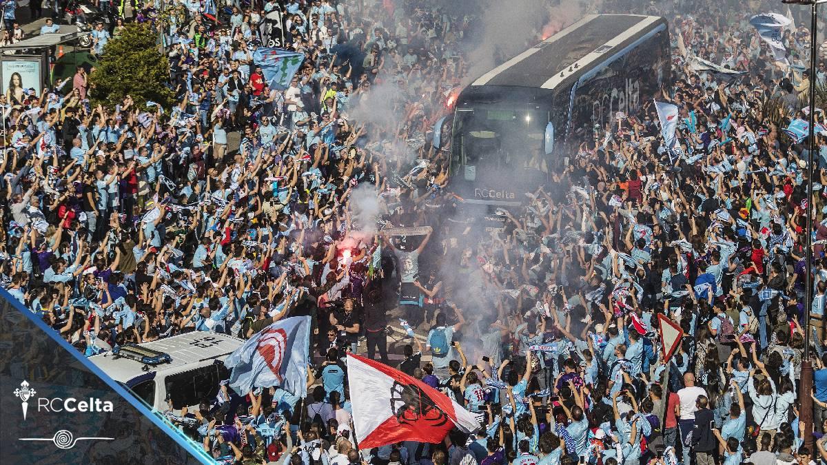 'choripanes' y cerveza gratis para el Celta Vigo FC Barcelona