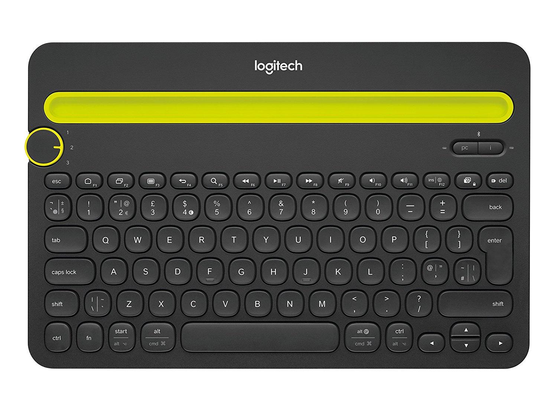 Logitech - K480 Teclado Bluetooth multidispositivo (Negro, QWERTY inglés) REACO