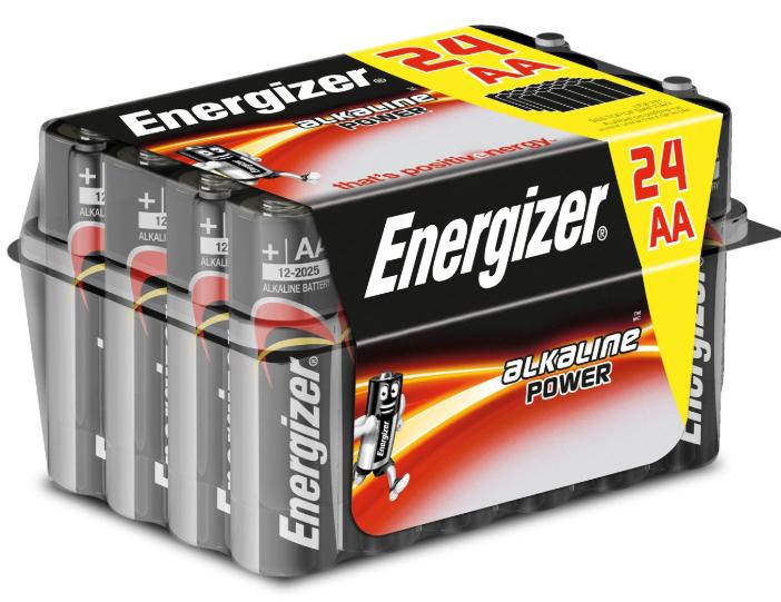 ENERGIZER POWER: Caja de 24 pilas alcalinas del tipo AA o LR06