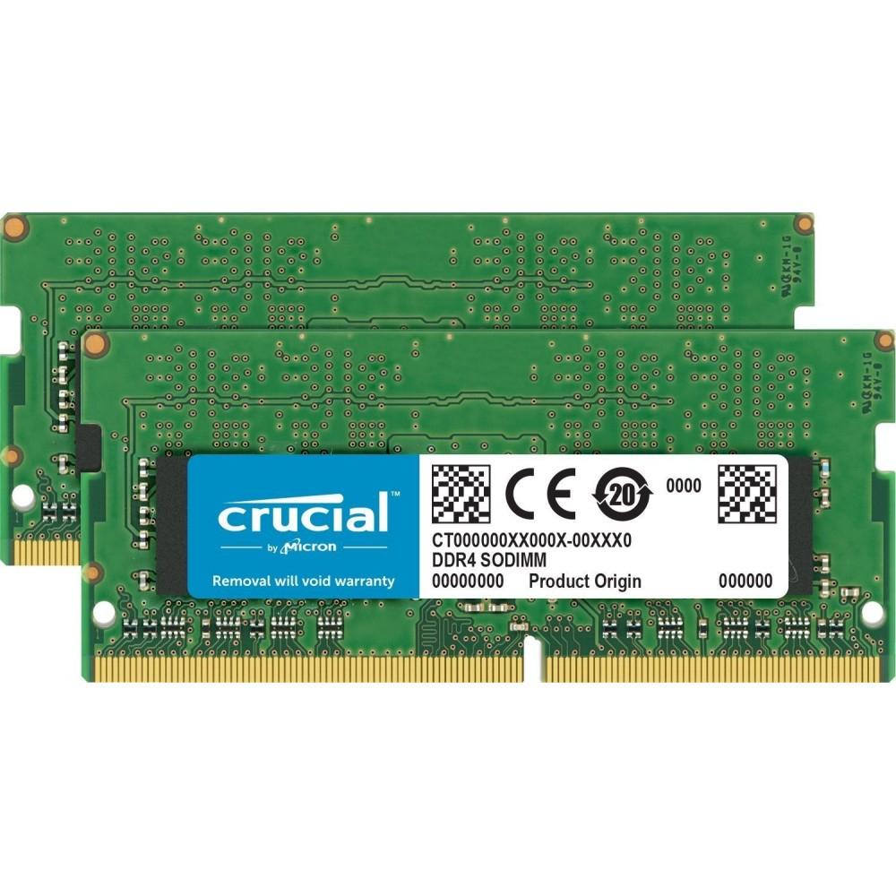 Crucial SODIMM 32gb 16x2 ddr4 2400 para Mac  iMac o portátiles win...