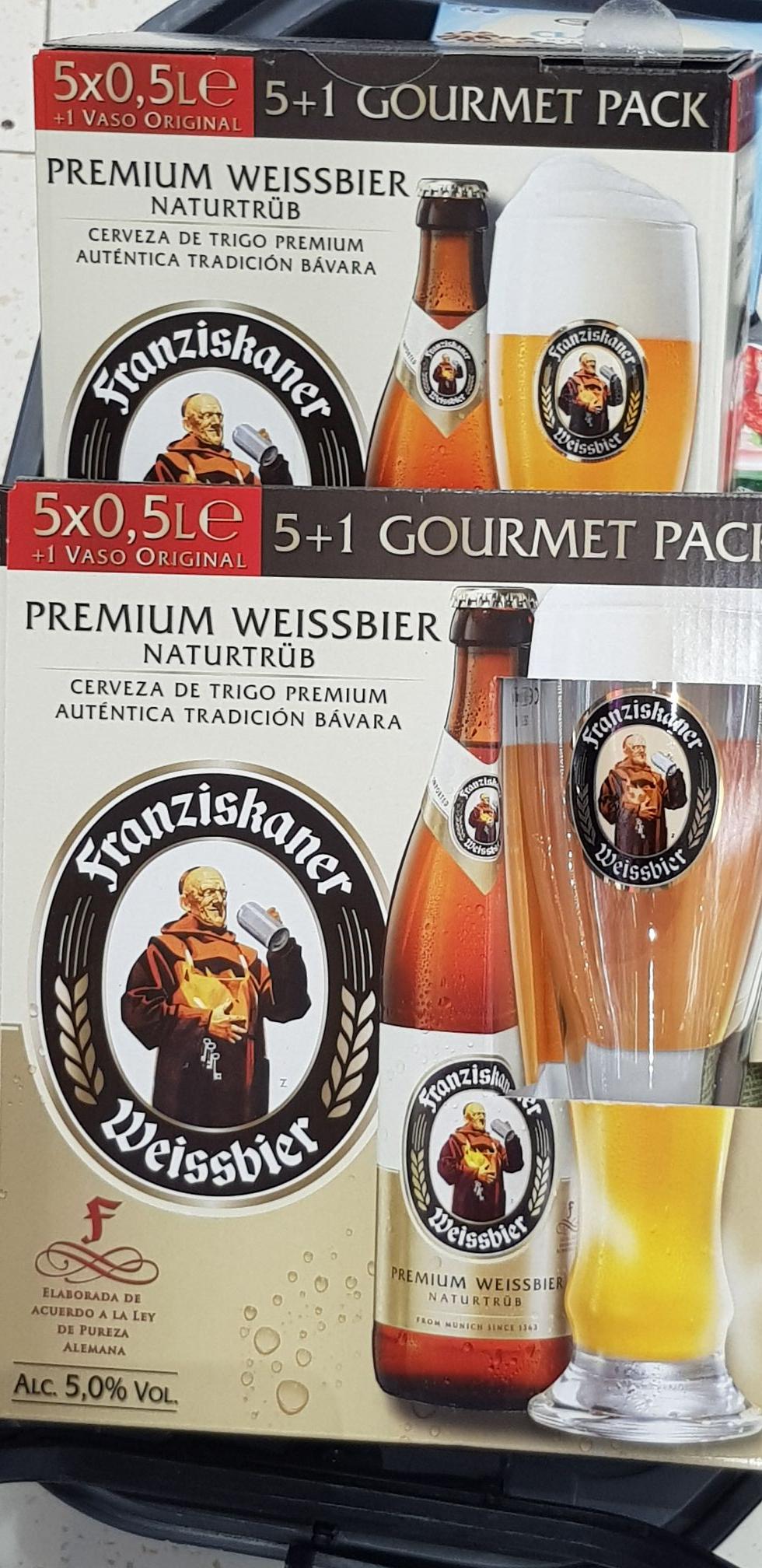 Vaso de regalo con la compra de 5 Franziskaner