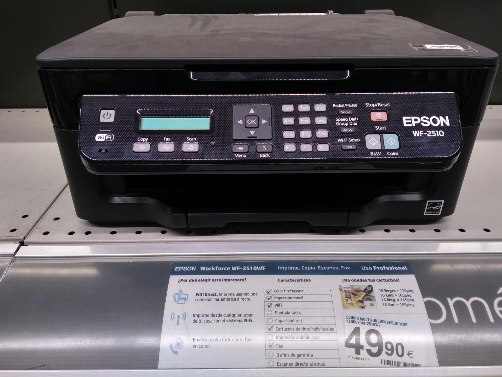 Epson Workforce WF-2510WF - Impresora multifunción (WiFi...)