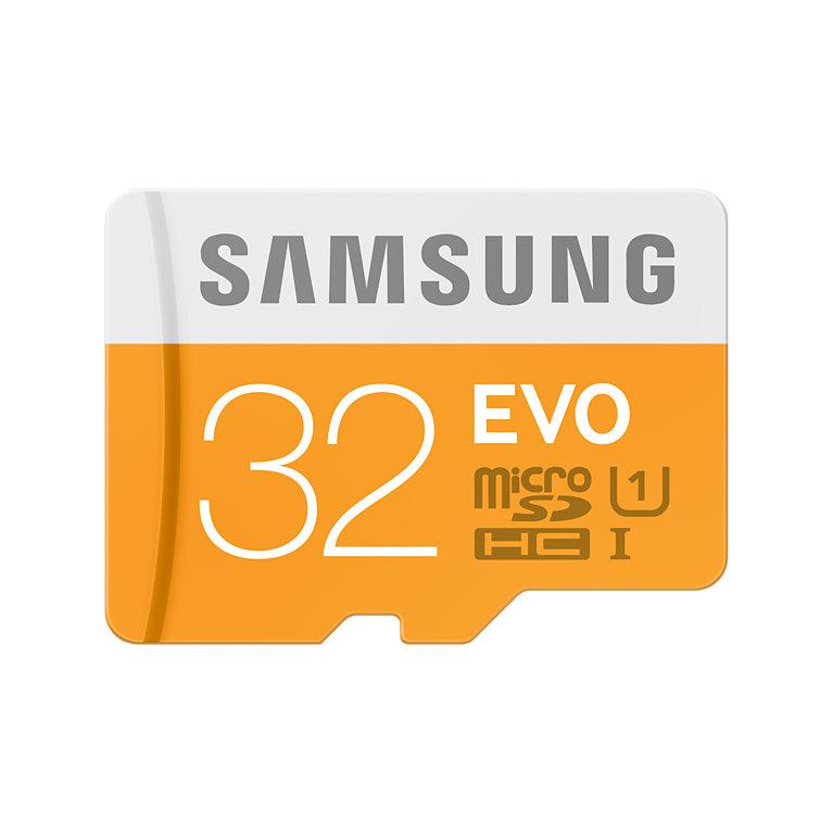 MicroSD 32GB Samsung Evo solo 7.85€
