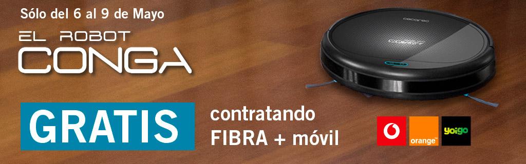 Conga gratis contratando fibra más móvil