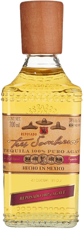 Tequila Tres Sombreros Reposado - 700 ml.