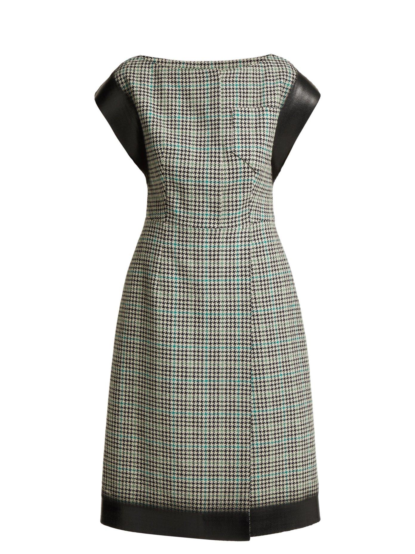 Vestido Prada - Houndstooth de lana
