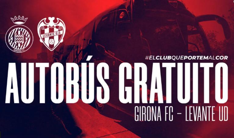 Autobuses gratis para los abonados del Levante que adquieran su entrada para la final contra el Girona