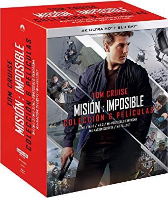 Colección 6 películas Misión Imposible 4K UHD + Bluray + Bluray extras