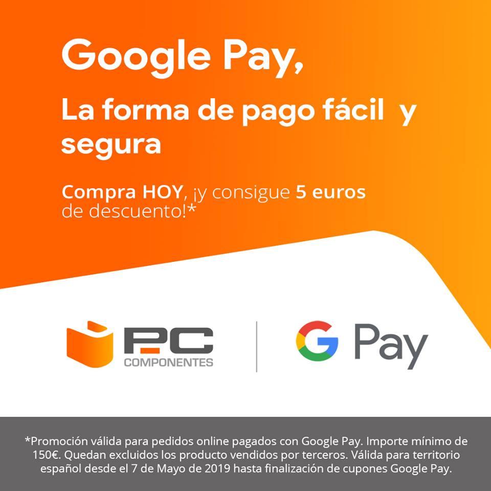 -5€ en PcComponentes al pagar con Google Pay