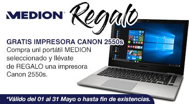 PRECIO MINIMO,MEDION AKOYA S3409 MD61003 13.3/i5-7200U/8GB/SSD256GB/WIN10 ( REGALO IMPRESORA)