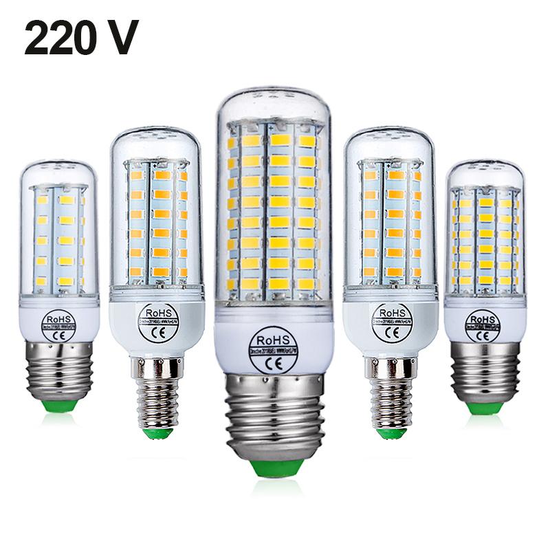Bombilla LED E14 SMD5730 220V 24Leds 6W