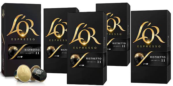 L'Or Café Ristretto   5 Paquetes x 10 cápsulas - Total 50 cápsulas