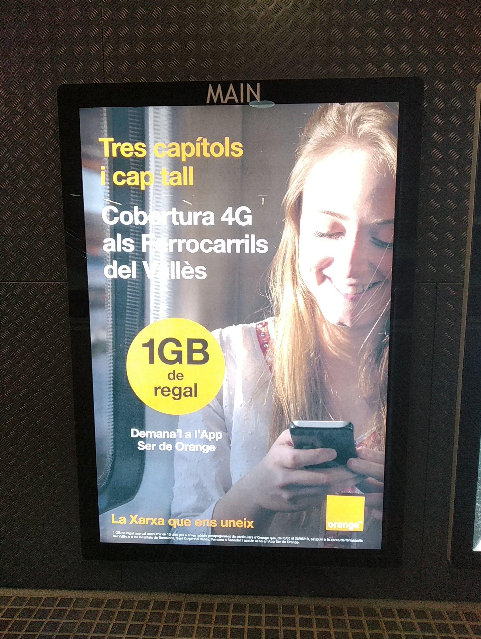 Regalo de 1gb para clientes de Orange en los FGC