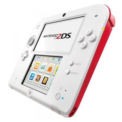 Nintendo 2DS Blanco-Rojo Segunda Mano