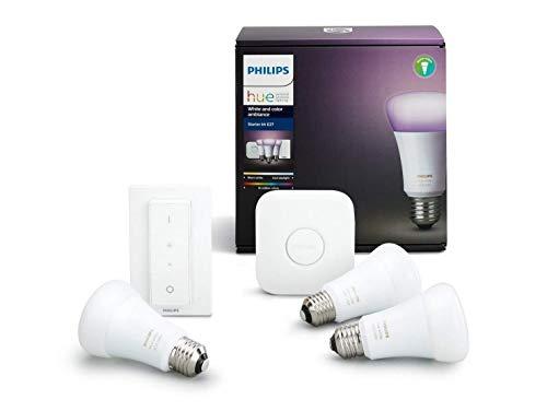 Philips Hue 3 bombillas + puente +mando solo 99€