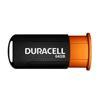 Duracell DRUSB64PR 64GB USB 3.0 (3.1 Gen 1) Conector USB Tipo A Negro, Naranja