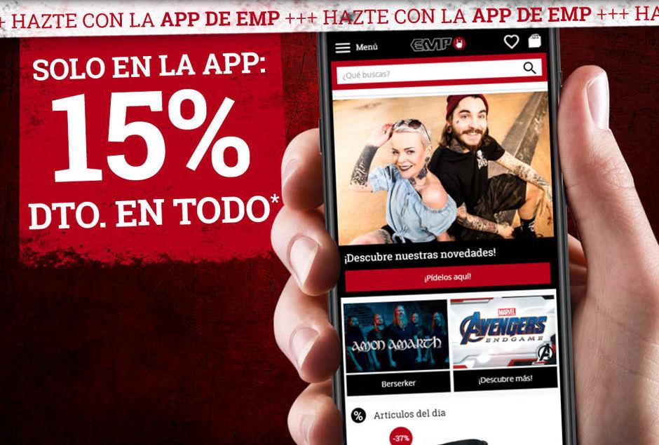 15% código descuento EMP Online mediante la App