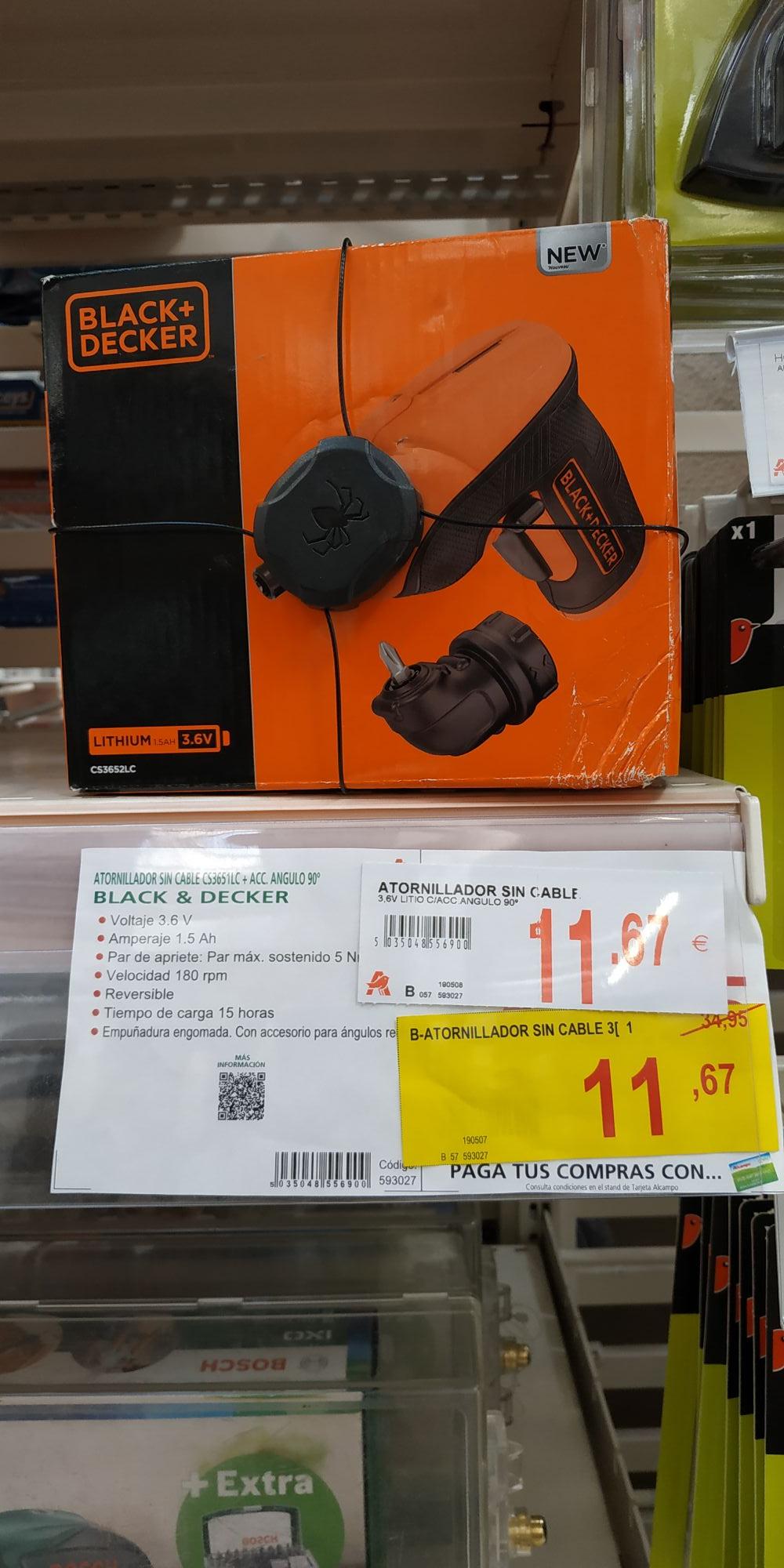 Destornillador sin cables Black + Decker